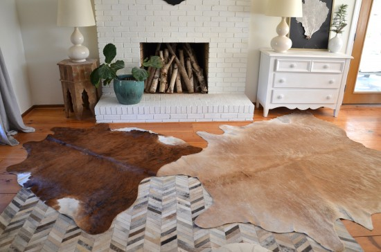 Cowhides for flooring