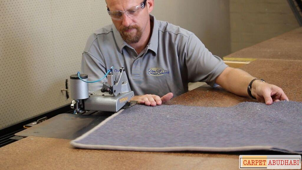 Carpet mat rug overlocking hemming overedge stitching binding flatlock edging whipping sewing edges instabind serging service