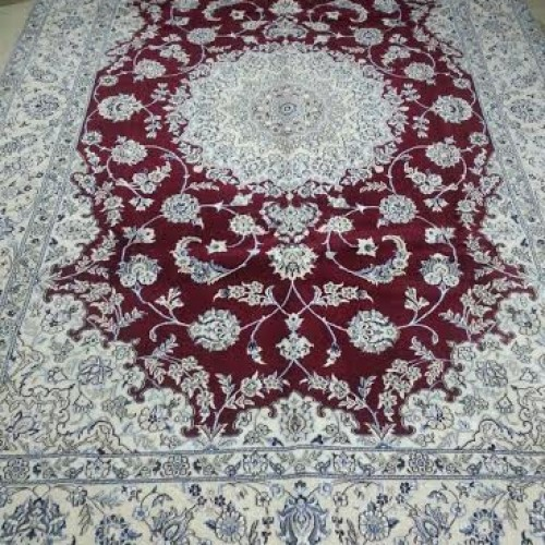 "Royal Persian ""Signed"" Carpet from Naien"
